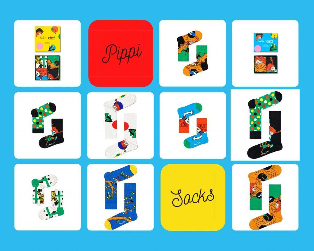 Happy Socks met Pippi Langkous