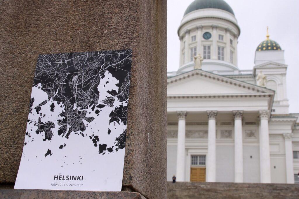 poster van stadsplattegrond