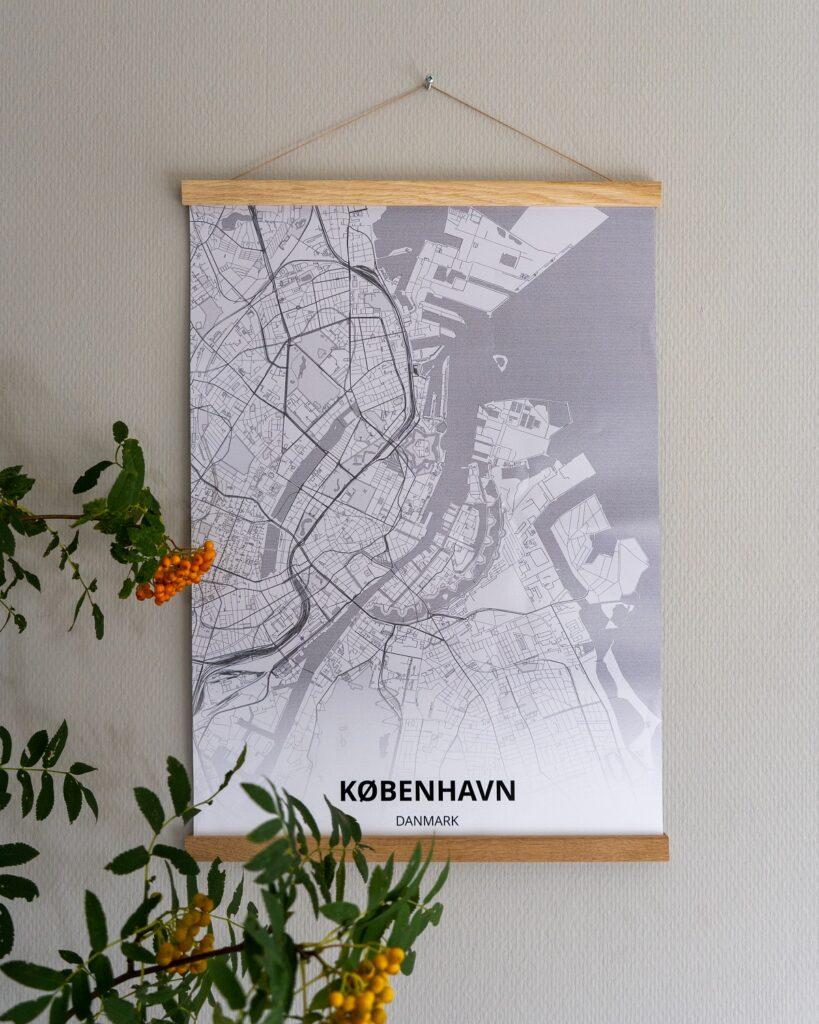 plattegrond op poster