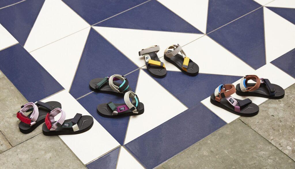 sandalen van HAY en Suicoke